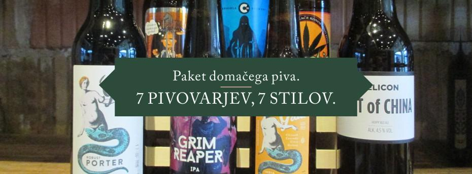 V Pivarni so pripravili tudi zanimiv promocijski paket 7 različnih stilov piva iz 7 različnih slovenskih pivovarn!